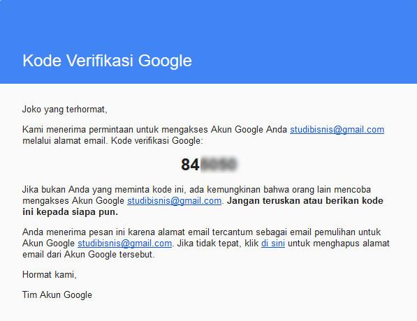 Cara Pemulihan Akun Google Gmail Yang Lupa Kata Sandi Password