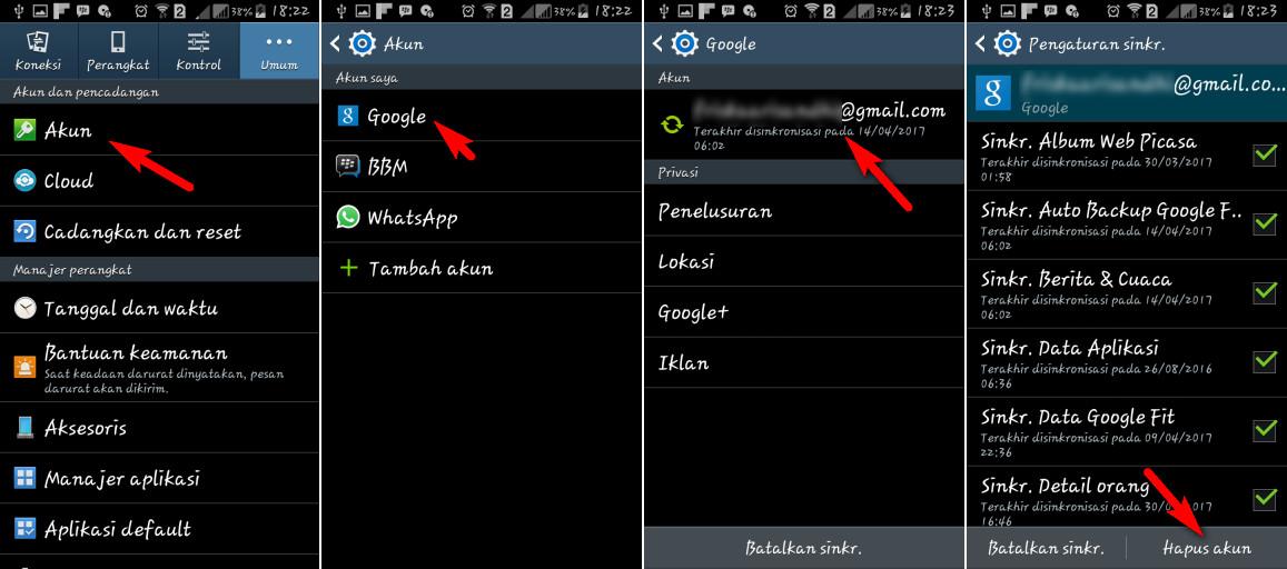 Tambahkan Akun Google Anda Sekali Lagi
