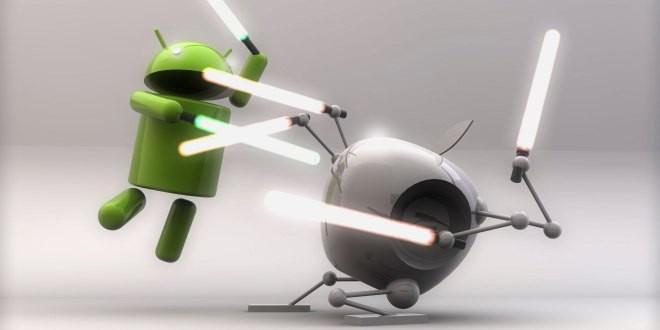 Perang android dan iOS