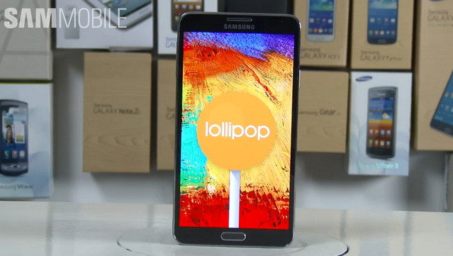Samsung Galaxy Note 3 Android 5.0 Lollipop