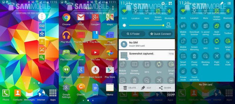 Tampilan Android 5.0 Lollipop di Samsung Galaxy S5