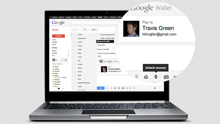 Google Wallet di Gmail