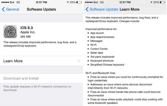 Apple Gulirkan Update iOS 8.3 Untuk Perangkat yang Mendukung