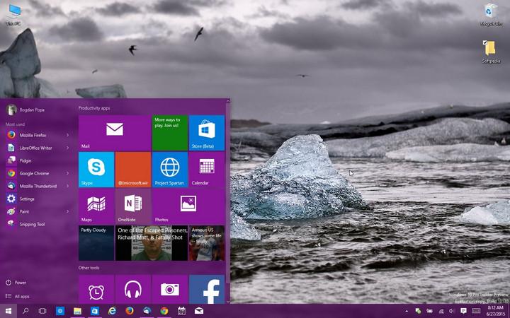 Antarmuka Windows 10