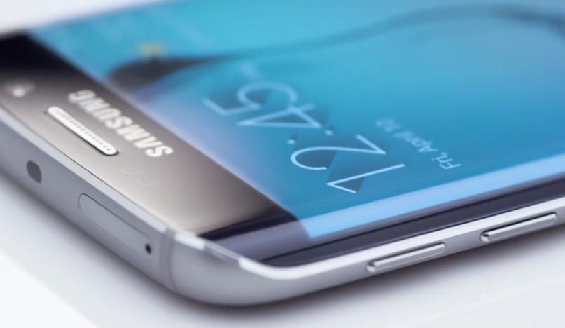 Layar lengkung Samsung Galaxy S6 Edge