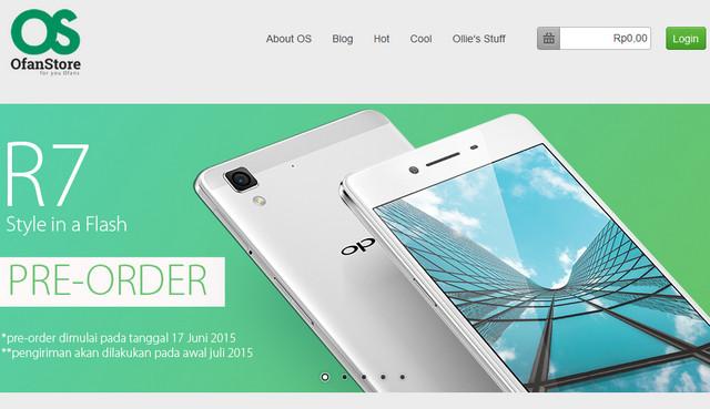 Oppo R7 Kini Sudah Tersedia Secara Pre-order di Indonesia