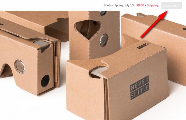Cardboard Gratis OnePlus 2 Sudah Habis Dipesan