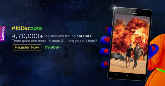 Flash Sale Lenovo K3 Note di India Catatkan 470.000 Pendaftaran