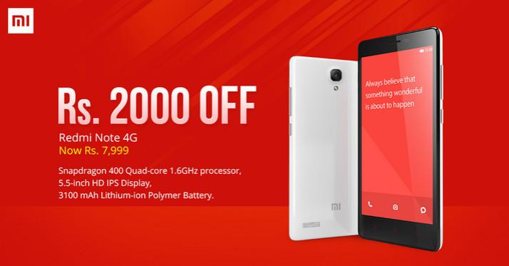 Harga Xiaomi Redmi Note 4G Dipangkas di India