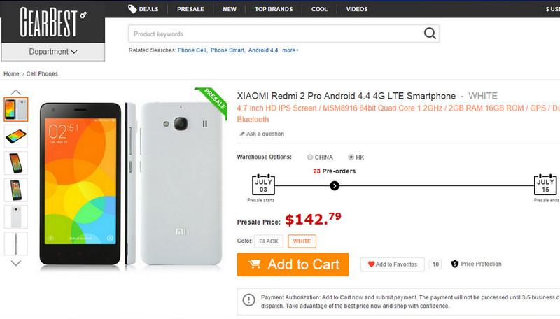 Xiaomi Redmi 2 Pro Kini Dijual Global Seharga Rp 1,9 Juta