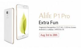 Alife P1 Pro, Smartphone Quad-Core 64-bit Berpemindai Sidik Jari Kini Tersedia di Gearbest