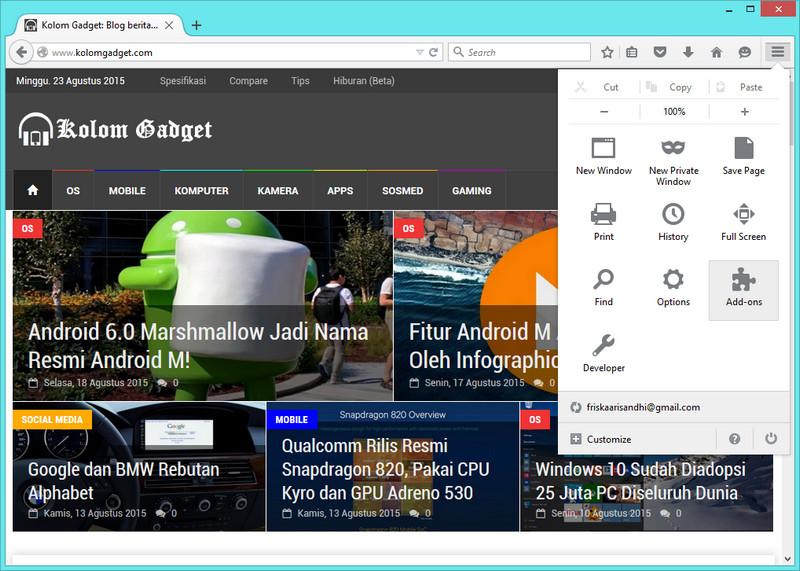 Firefox Bakal Dukung Ekstensi Dari Chrome dan Opera