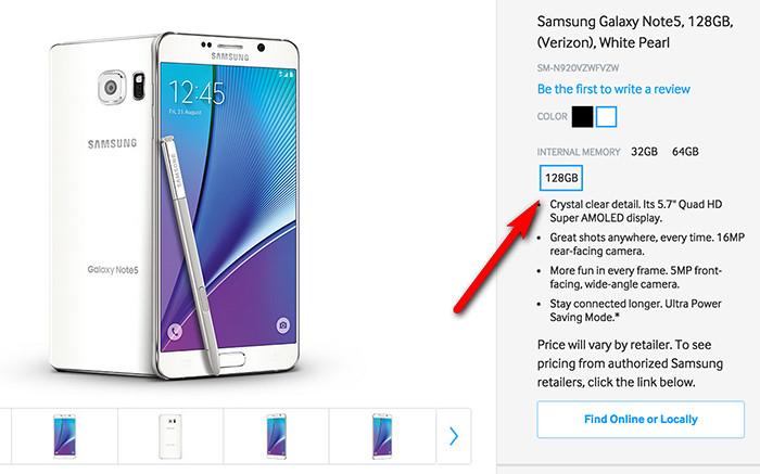 Samsung Galaxy Note 5 Tak Akan Punya Varian 128GB!