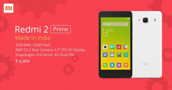Xiaomi Redmi 2 Prime 'Made in India' Resmi Diluncurkan