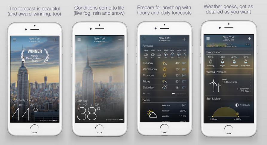 Yahoo Weather Beritahu Pengguna 15 Menit Sebelum Cuaca Berubah