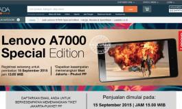 Lenovo A7000 Special Edition Terjual 5 Ribu Unit Dalam Hitungan Menit