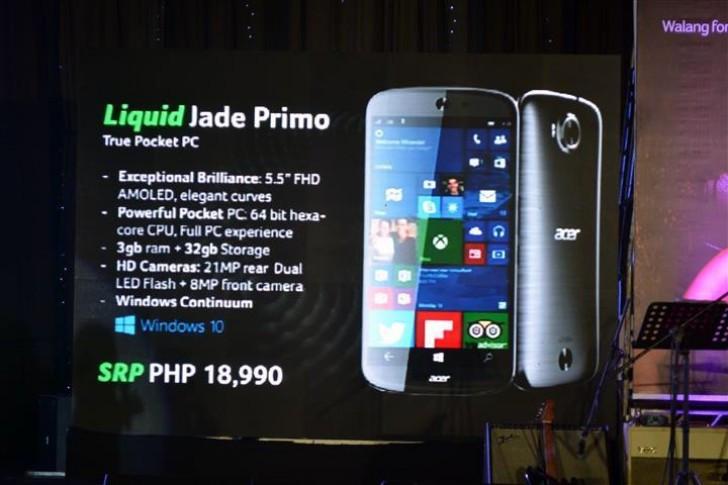 Meluncur Desember, Acer Jade Primo Dibanderol Rp 5,6 Juta