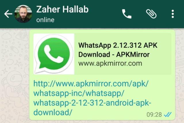 WhatsApp Untuk Android Akan Tampilkan Preview Saat Pengguna Berbagi URL