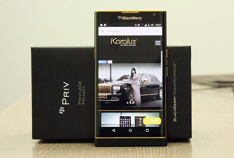 Blackberry Priv Berkelir Emas Dibanderol Rp 18 Juta
