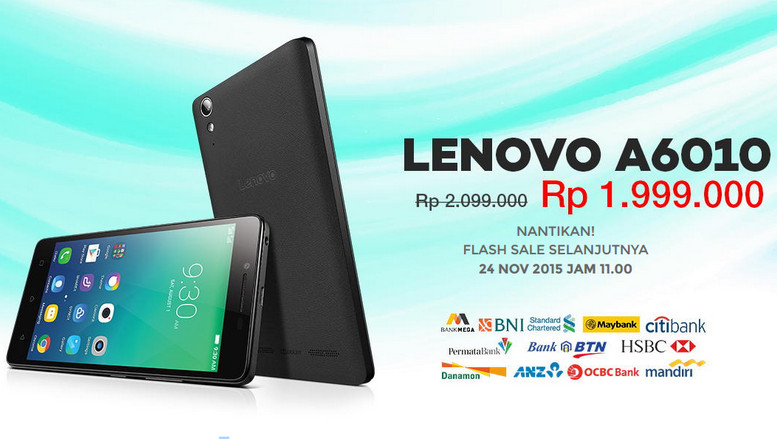 Flash Sale Lenovo A6010 Dibuka Kembali Minggu Depan