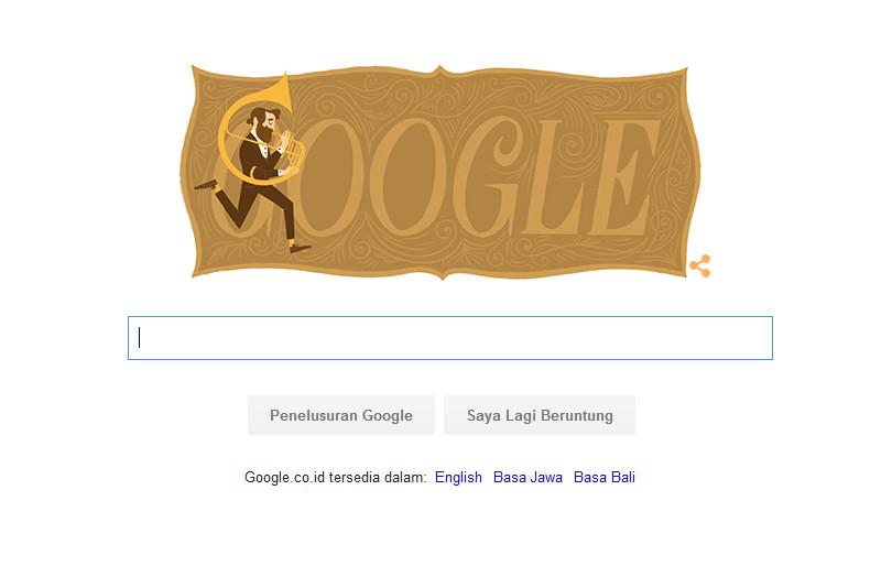 Google Rayakan HUT Adolphe Sax ke-201 Ala Doodle, Siapa Dia