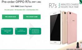 Oppo Buka Pre-Order R7s di Malaysia