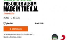 Tokopedia Buka Pre-Order Album Terbaru One Direction, Made In The A.M.