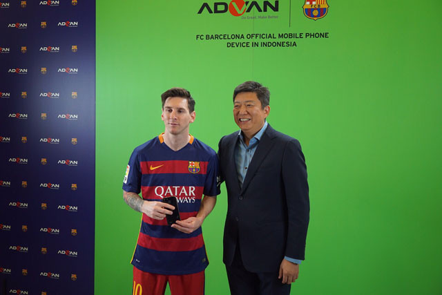 ADVAN i5A Diperkenalkan, Gandeng Lionel Messi dkk di FC Barcelona