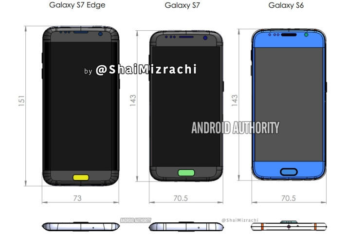 Ini Rincian Lengkap Dimensi Samsung Galaxy S7 & S7 edge
