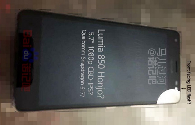 Ponsel Ini Diduga Lumia 850