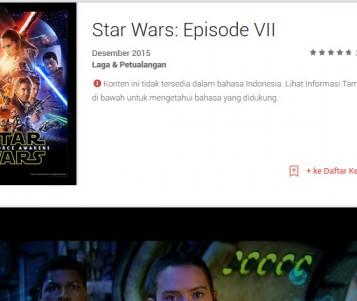 Google Play Buka Pre-Order Star Wars: The Force Awakens