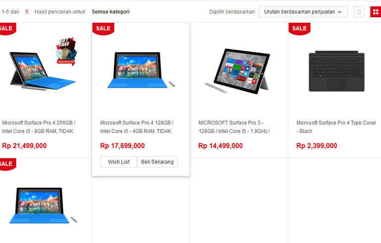 Surface Pro 4 Ternyata Sudah Bisa Dibeli di Indonesia