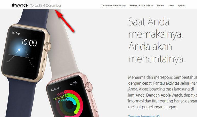 Tanggal Rilis Apple Watch di Indonesia Mundur ke Desember