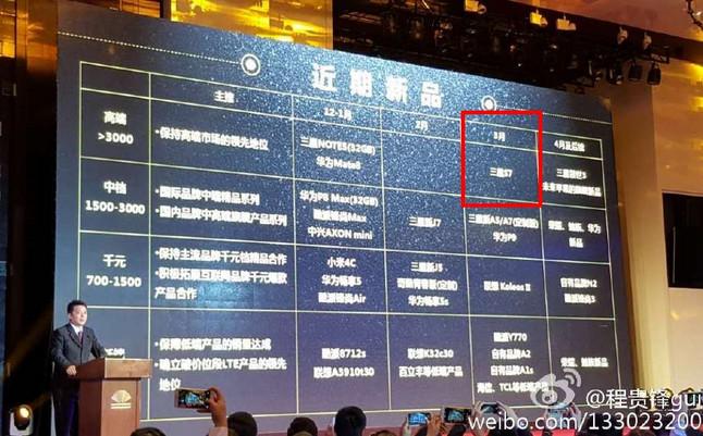 China Mobile Ungkap Samsung Galaxy S7 Rilis Maret 2016