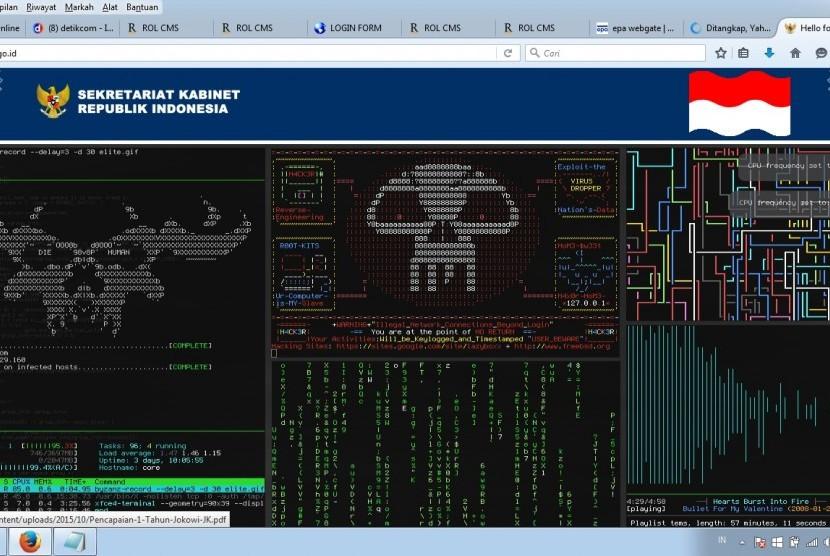 website Sekretariat Kabinet di hacker