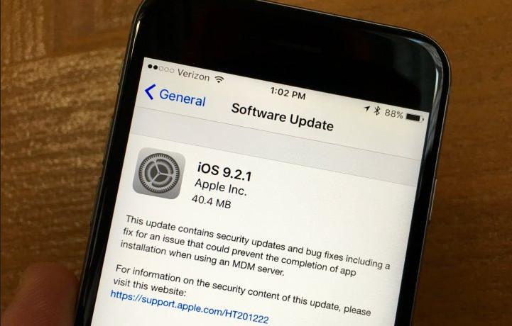 Apple Semaikan iOS 9.2.1