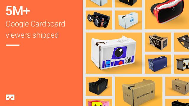 Google baru saja mengumumkan bahwa perangkat virtual reality sederhana miliknya telah dikirimkan lebih dari 5 juta kali.