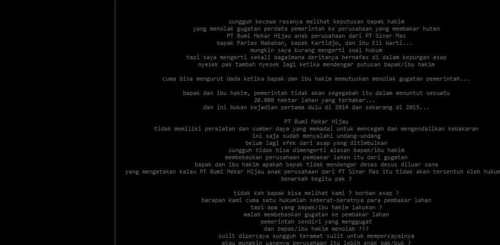 Korban Asap Lampiaskan Dendam ke Website Pengadilan Negeri Palembang