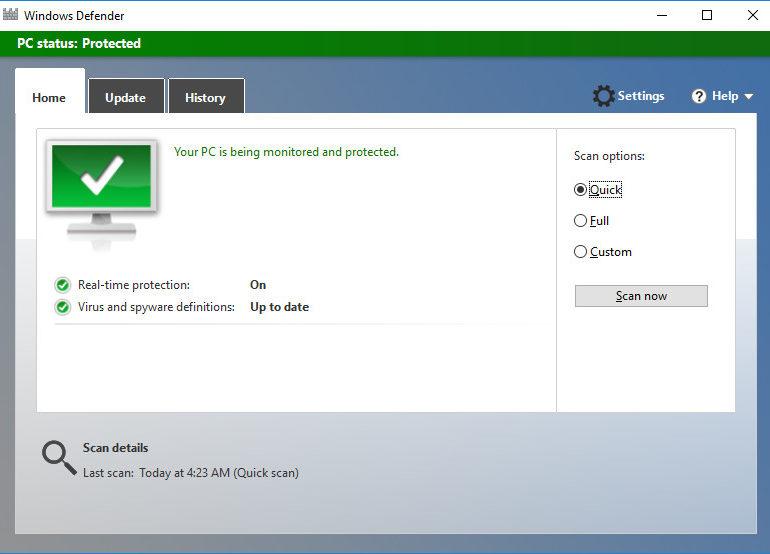 Windows Defender di Windows 10 Lampaui Beberapa Antivirus Ternama