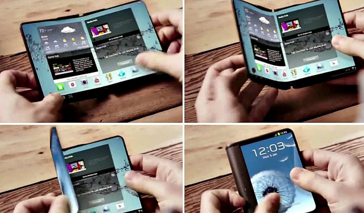 ponsel layar lipat Samsung
