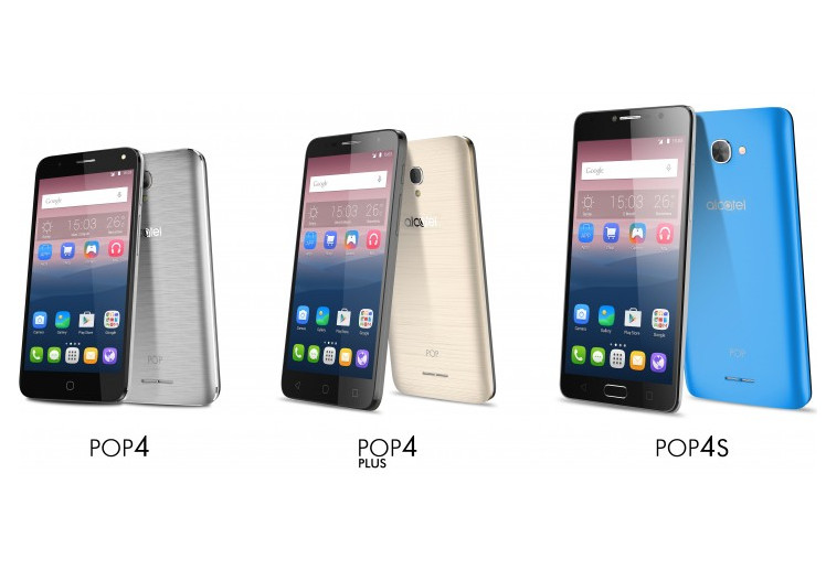 Alcatel Rilis Trio POP 4 di MWC 2016