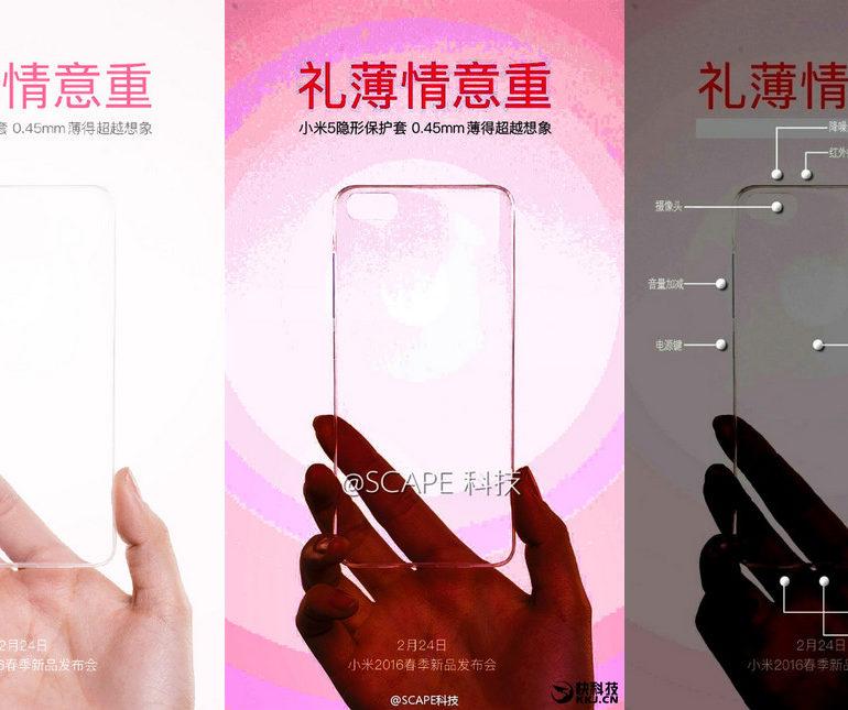 Bocoran Case Ungkap Desain Xiaomi Mi 5