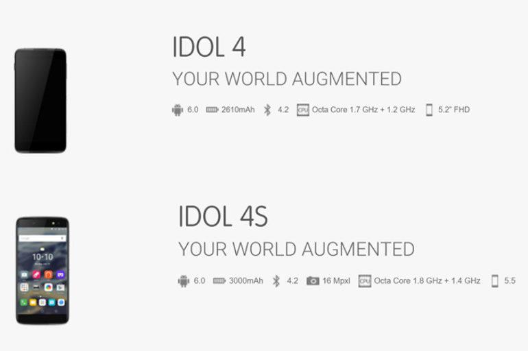 Bocoran Ungkap Spesifikasi Alcatel OneTouch Idol 4 & 4S