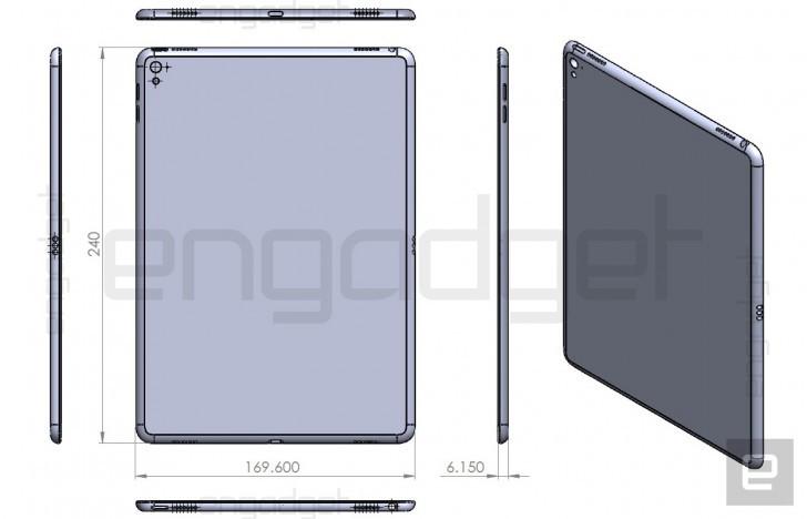 Gambar Proyeksi iPad Air 3 Perlihatkan Dimensi Tablet