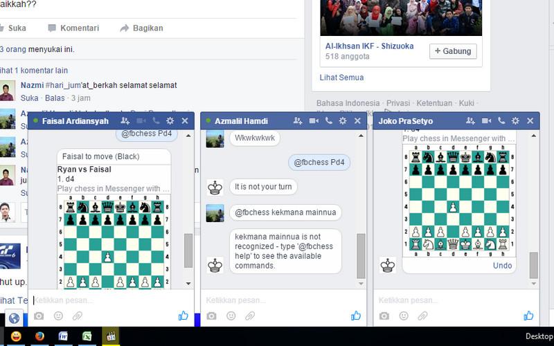 Taukah Anda, Chatting di Facebook Messenger Bisa Sambil Main Catur