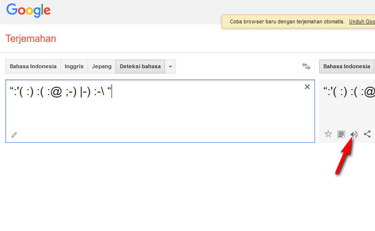 """Ketik """":'("""" di Google Translate, Anda Akan Terkejut Dengan Hasil Terjemahannya"""