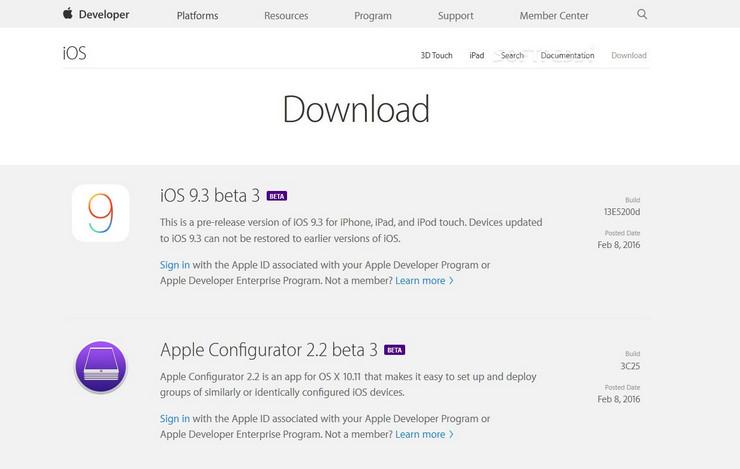 iOS 9.3 Beta Ketiga Untuk Developer Digulirkan