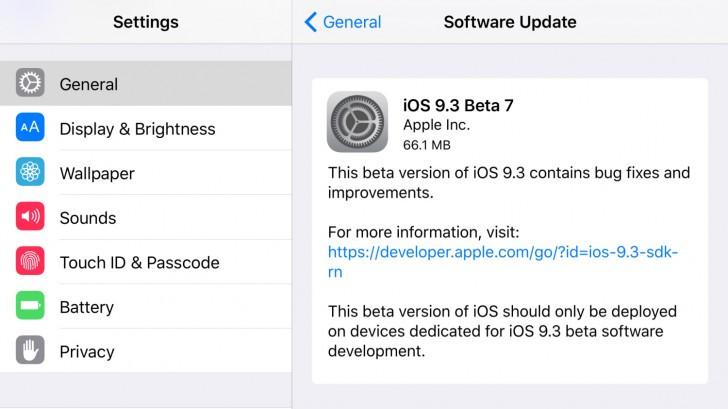 Anda Sudah Bisa Cicipi iOS 9.3 beta 7 Sekarang