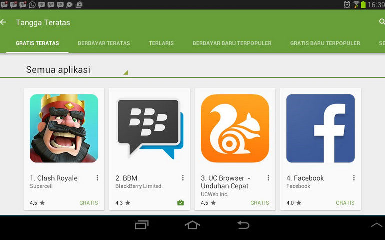 Clash Royale Jadi Aplikasi Terlaris di Google Play Store