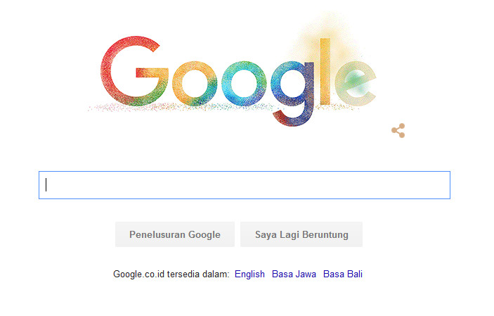 Festival Holi di logo Google